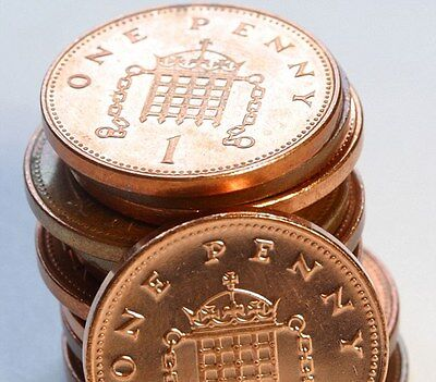 Uncirculated 1p 1 Pence Penny Coins English Decimal Currency