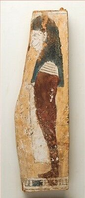Wooden Panel With Figure Of Amset 700 - 30 B.c.