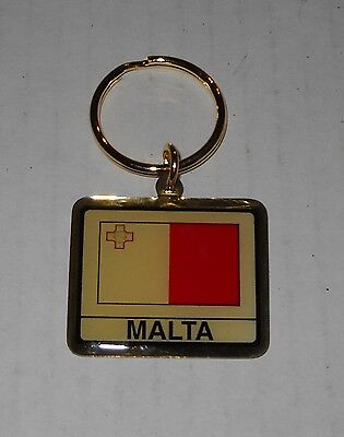 Wholesale Lot Of 10 Malta Flag Metal Keychain, BRAND NEW
