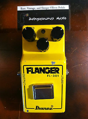 Vintage Ibanez Fl-301 Flanger Effects Pedal Flying Fingers Narrow Box Rare!!