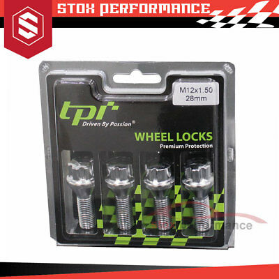 New Tpi Premium Protection Wheel Lock Bolts Chrome M12X1.50