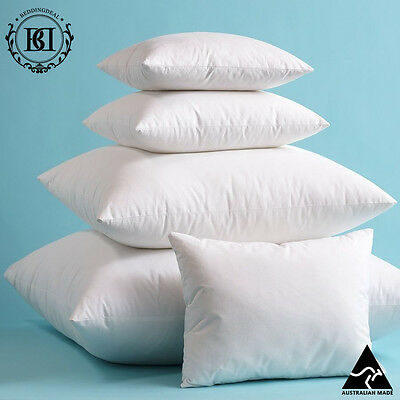 New Aus Made White Cushion Pillow Inserts Varied sizes - Euro pillow inserts etc