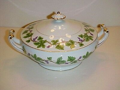Citadel China Vineyard Pattern Round Covered Vegetable Bowl with Cover