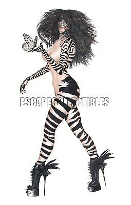 Barbara Jensen Zebra Dreams Pin Up Girl Art Signed J Print 11x17