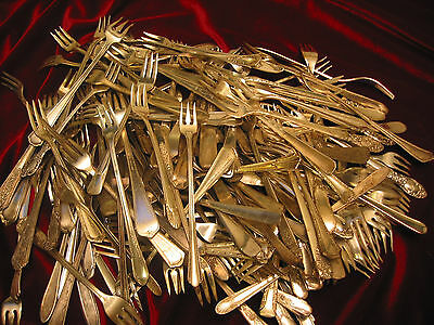 Vintage Silverplate Cocktail Seafood Forks Lot of 50 Table Ready  Flatware