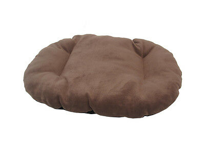 New!!!  Large Brown Fleece Dog /  Cat Bed Cushion To Put In Bottom Of Basket
