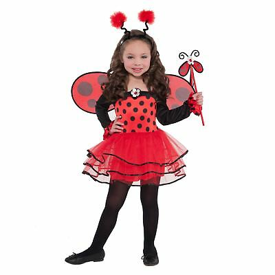 Girls Book Week Fancy Dress Insect Ladybird Bug Fancy Dress Costume Wings Outfit