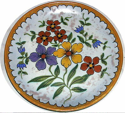 """GOUDA HOLLAND UNIQUE 2850 HAND PAINTED PLATE 8 1/8"""""""