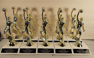 Youth Basketball Trophies Slam M or F Lot of 10 FREE Engraving FREE S/H 2 Day