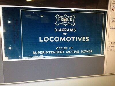 1940's Frisco Railroad Diagrams Of Locomotives On Cd-rom.  PDF Files
