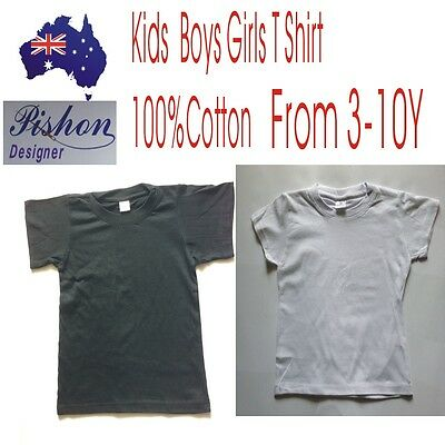 New Kids Childrens Boys Girls T Shirt 100%Cotton From 3-10Y