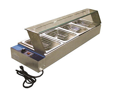 """(4) Four Well Commercial Kitchen 46"""" Bain Marie Food Warmer New"""
