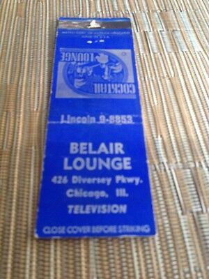 belair lounge matchbook chicago illinois low number