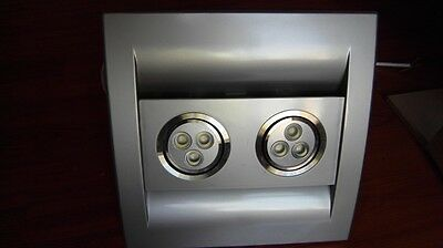Stainless steel Color SILENT SERIES Bathroom Exhaust Fan, 85 CFM, LED LIGHTS