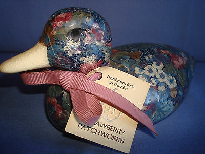 CERAMIC POTTERY HANDCRAFTED PATCHWORK DUCK  DECORATORS &/or COLLECTORS DREAM