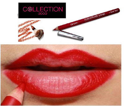 Constance Carroll 1 BRICK RED Lip Liner Pencil Full Size Bright Vibrant Red