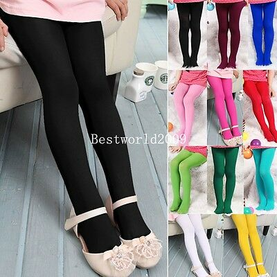 Girls Kids Velvet Pants Stockings Pantyhose Opaque Ballet Dance tights leggings