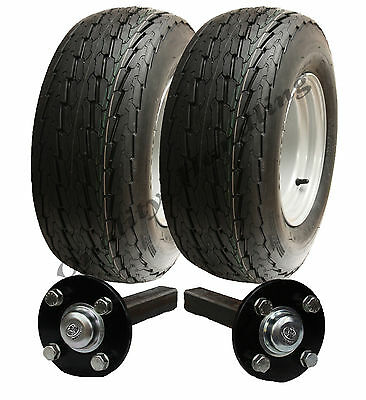 High speed trailer kit 20.5x8-10 road legal wheels + hub & stub axle, No hitch