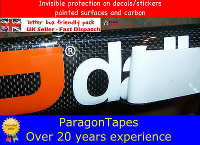 3M x 50mm Gloss Helicopter Carbon Bike Frame Protection Tape Shield armour wrap