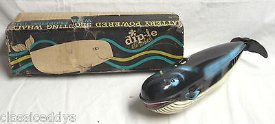 DIP-IE THE SPOUTING WHALE TIN BATTERY TOY MADE IN JAPAN BOXED RARE!