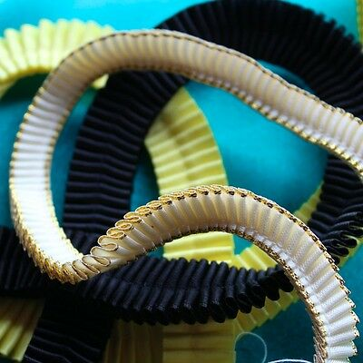DIY Browbands - 50cm X 10mm Double Sided Satin Ribbon PLEATED. 23 Colours!