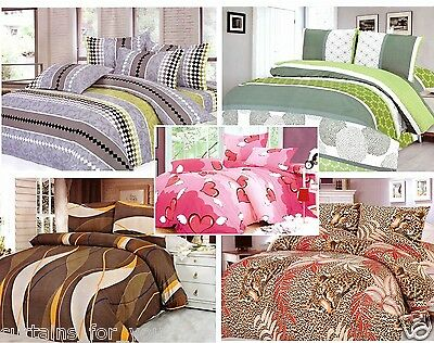 Double Single 3 Pcs  Bedding Set Tiger Duvet Cover Pillowcases Amazing For You