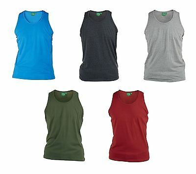 D555 Pure Cotton Plain Vests In Size 1Xl To 8Xl, 6 Color Options