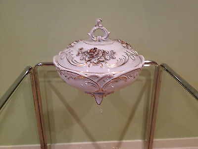 VINTAGE VON SCHIERHOLZ FOOTED BOWL WITH LID  *** PRICED TO SELL ***