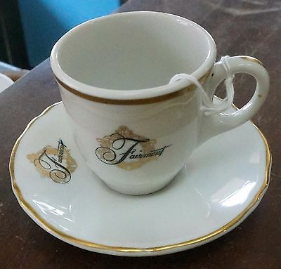 Fairmont Hotel Demitasse Cup And Saucer New Orleans