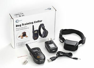 Esky 100Level Rechargable LCD Remote Control Dog Training Shock Collar for M/L