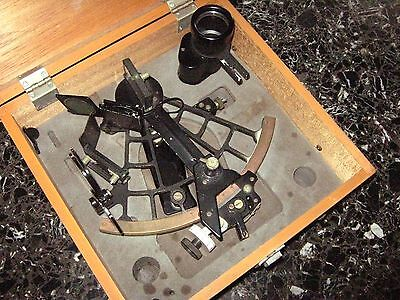 ANTIQUE marine sextant MOTION SMITH & SON LTD-never been used insid original box