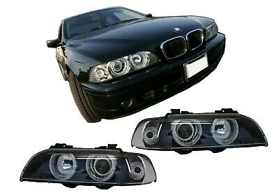 Angel Eyes Phares pour BMW Série 5 E39 96-03 Facelift Design Noir Chrom Edition