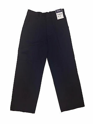 Boys Navy Color School Uniforms Pants w/ Back Elastic Waist Size: 4 - 16
