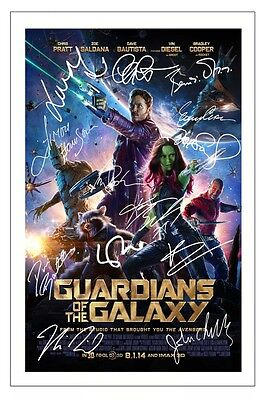 Guardians Of The Galaxy Cast X 13 Signed Photo Print Autograph Poster