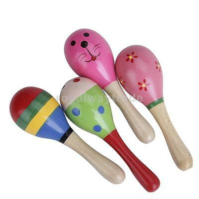 Kids' Music Instrument Wooden Maracas Baby Percussion Toy Gift for Children NEW