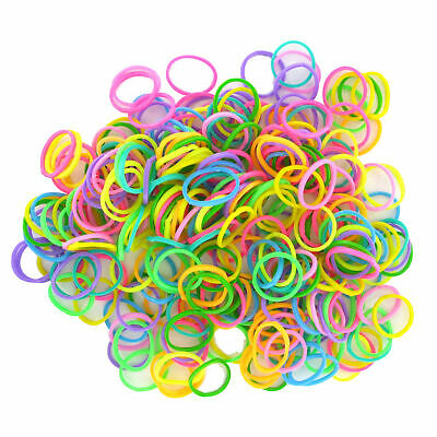 Multi Colour Bracelet Loom Bands Glow Neon Tie Dye  Hook Tool and Clips