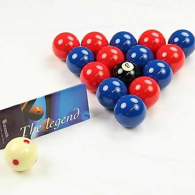 Aramith LEAGUE Edition RED & BLUE Pool Balls - PRO CUP Spotted Cue Ball