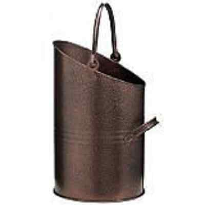 "Parasene 16"" Bronze Coal Bucket, Scuttle, Hod With Handle At Top And Side"