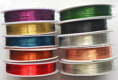 Beading Craft Copper Wire  - Jewellery Tiara Finding Choose Colour & Size