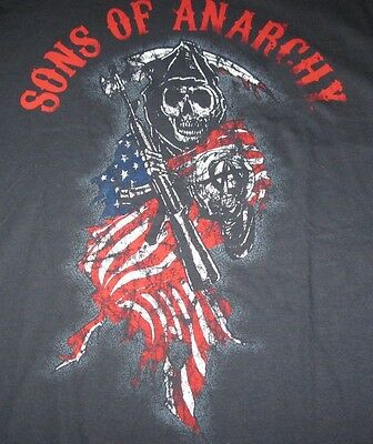 Sons of Anarchy Motorcycle Television Faded Look Graphic Men T-shirt(L)Large NWT