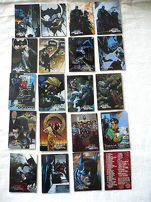 Lot of 20 Batman Master Series Cards, Skybox 1995