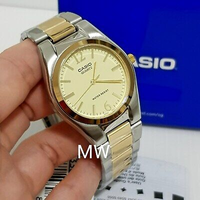 caaf5dd6f Casio Men Gold Two Tone Stainless Steel Fashion Analog MTP1253SG MTP -1253SG-9A