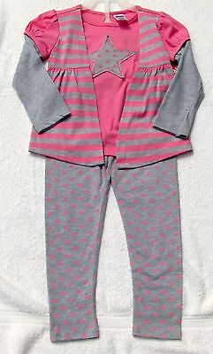 Good Quality Infants 2 Pc Outfit Pretty Pink And Gray 2T & 3T By Fischer Price
