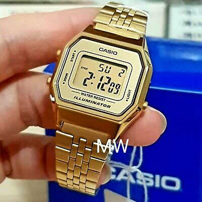 Casio New Ladies Gold Tone Digital Stainless Steel Watch LA680WGA-9DF LA680WGA-9