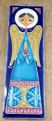 Vietri pottery-6x2 inch Giotto Angel Tile.Made/Painted by hand-Italy