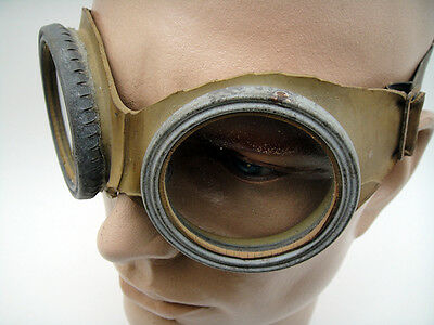 GERMAN WW1 GAS GOGGLES Vintage Old Mask Rubber Soldiers Infantry Battlefields