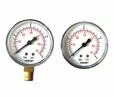 Industrial 63mm Hydraulic Pressure Gauge Manometer Both Entry Available 4-10 bar