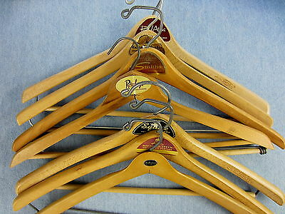 VINTAGE LOT OF 7 HANGERS CLOTHING STORE CLOTHES BULLOCKS ROOS ATKINS SMITHS