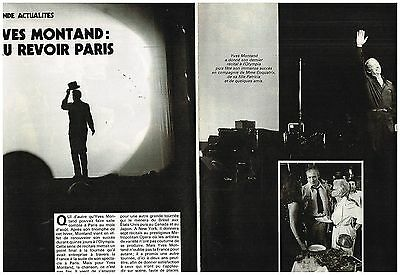 Coupure de presse Clipping 1982 (2 pages) Yves Montand
