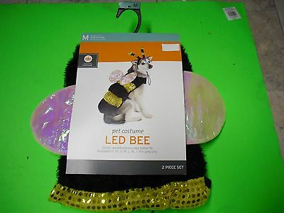 New! Pet Costume Led Bee Dog Halloween Costume Pet Bumble Bee Size XS S M L XL